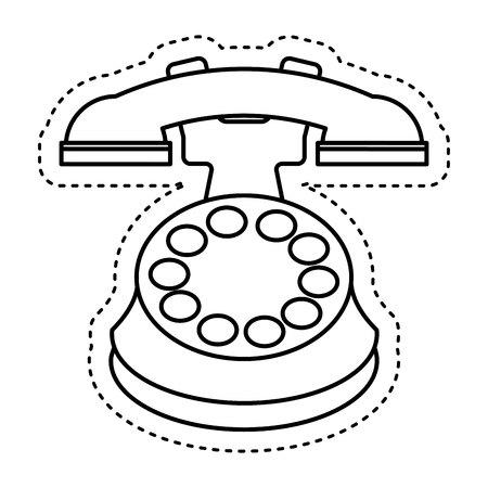 retro telephone: retro telephone isolated icon vector illustration design Illustration