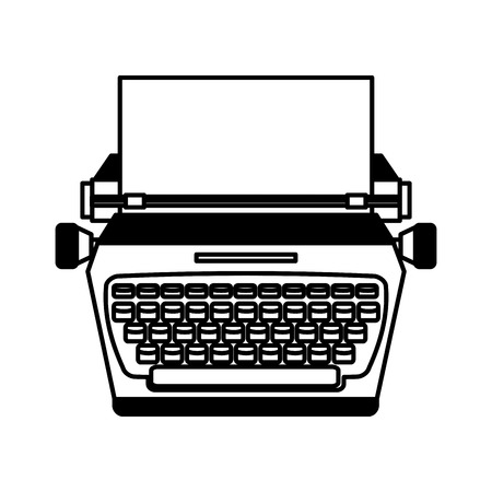 type writer: typewrite retro isolated icon vector illustration design