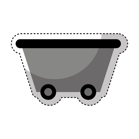 mining ships: Mine wagon isolated icon vector illustration design