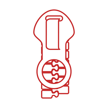 zipper style isolated icon vector illustration design