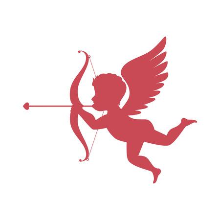 cupid angel love card vector illustration design Illustration