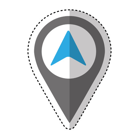 arrow location isolated icon vector illustration design