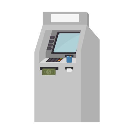 automatic transaction machine: atm service isolated icon vector illustration design