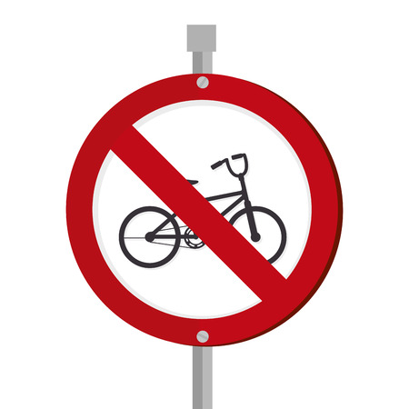 bicycle traffic signal icon vector illustration design
