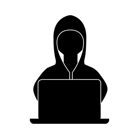 hacker avatar character isolated icon vector illustration design