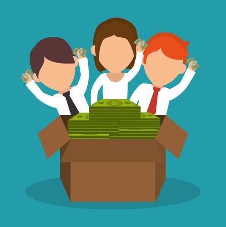 crowdfunding savings concept icon vector illustration design