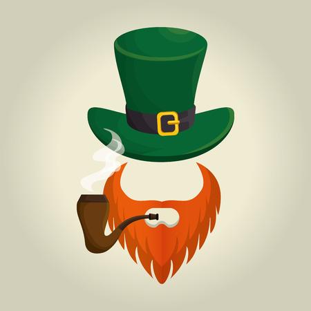 saint patrick day elf hat vector illustration design Illustration