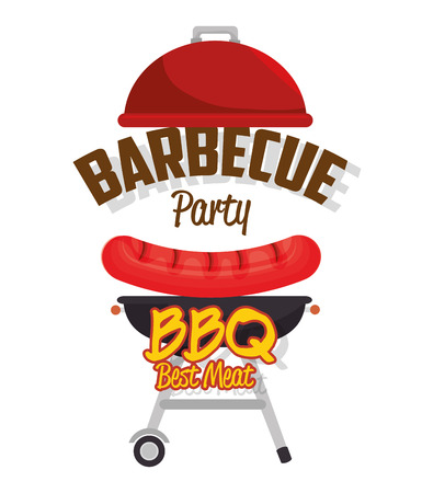 delicious barbecue food icon vector illustration design Illustration