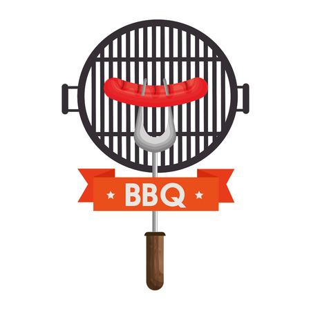 delicious barbecue food icon vector illustration design Stock Photo