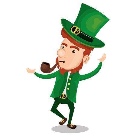 saint patrick day leprechaun character vector illustration design Stock Photo