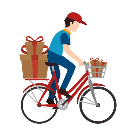 post teen: delivery worker service icon vector illustration design Illustration