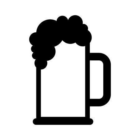 tarro cerveza: beer jar drink isolated icon vector illustration design