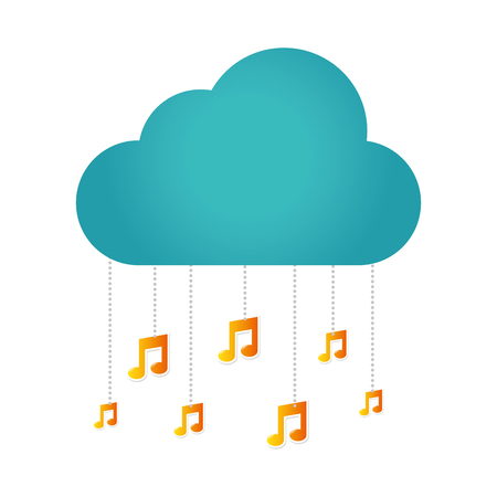 music notes isolated icon vector illustration design