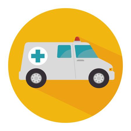 ambulance emergency vehicle icon vector illustration design Иллюстрация