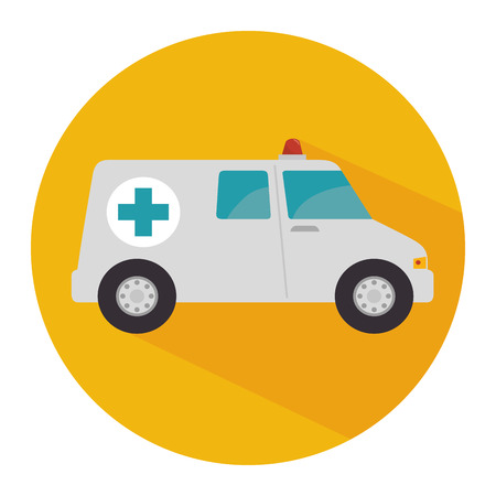 ambulance emergency vehicle icon vector illustration design Illustration