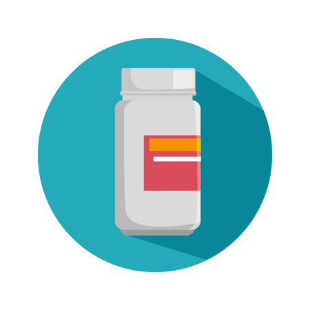 medicine bottle isolated icon vector illustration design Illustration