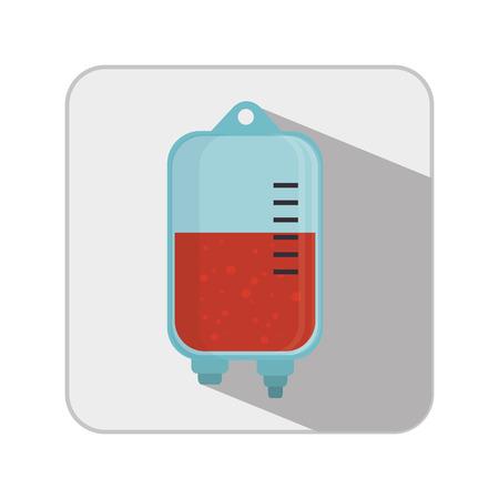 transfuse: blood bag donation icon vector illustration design Illustration