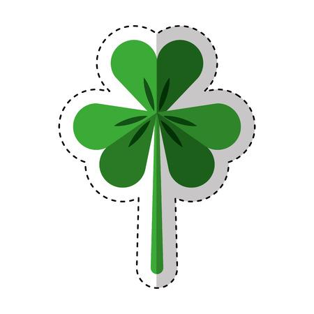 Saint patricks clover icon vector illustration design Illustration