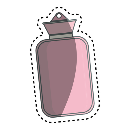 wärmflasche: Medical water bottle icon vector illustration design
