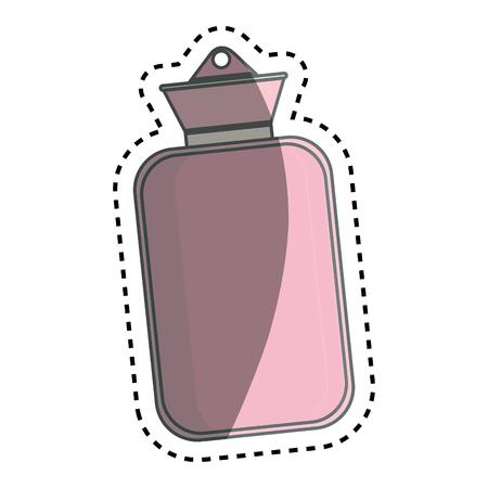 wärmflasche: Medizinische Wasserflasche Symbol Vektor-Illustration, Design,