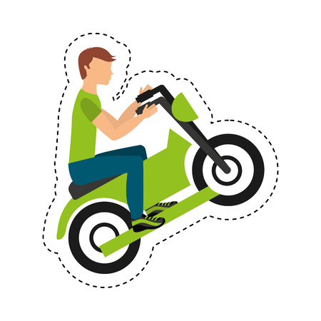 quad: quad motorcycle extreme sport vector illustration design