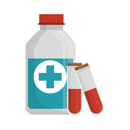 medicine bottle isolated icon vector illustration design Stock Vector - 69337228
