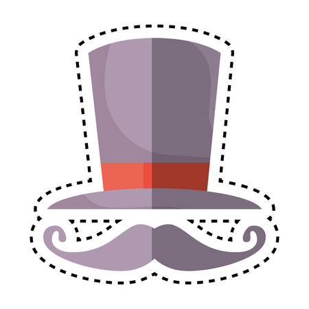 sombrero de mago: Wizard hat isolated icon vector illustration design Vectores
