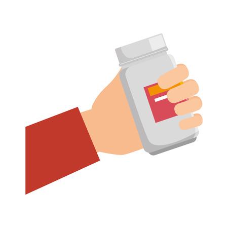 medicine bottle isolated icon vector illustration design Çizim
