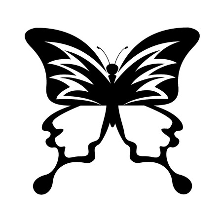 antennas: cute butterfly isolated icon vector illustration design