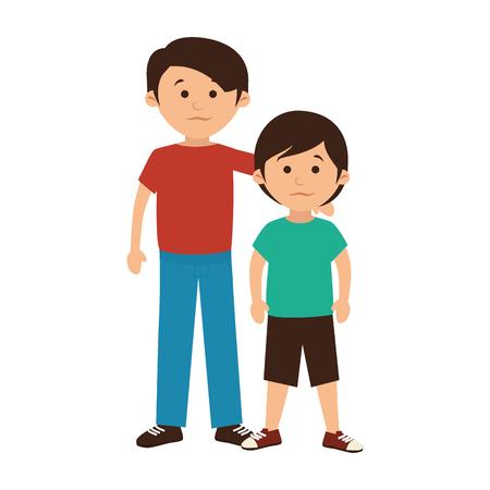 gelukkig gezin lid karakter vectorillustratieontwerp