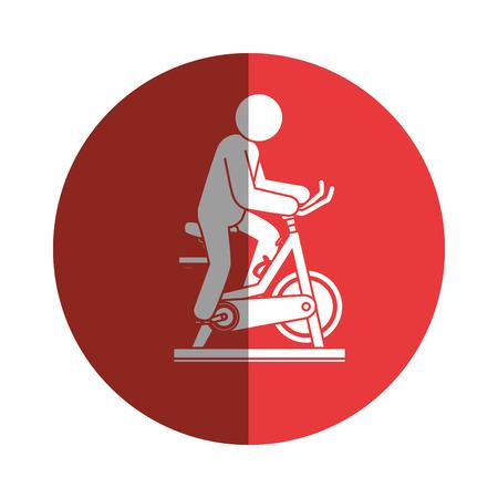 spinning bike fitness silhouette vector illustration design
