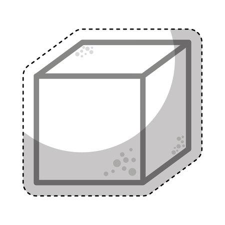 sugar cube: sugar cube sweet icon vector illustration design Illustration