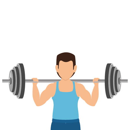 weight lifting fitness lifestyle vector illustration design