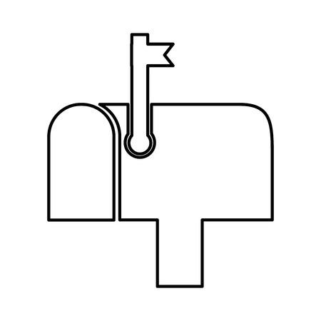 mailbox postal isolated icon vector illustration design Illustration