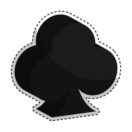 card suits symbol: poker ace isolated icon vector illustration design
