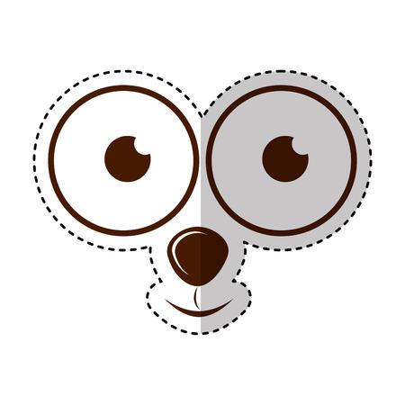 monster face emoticon icon vector illustration design Illustration