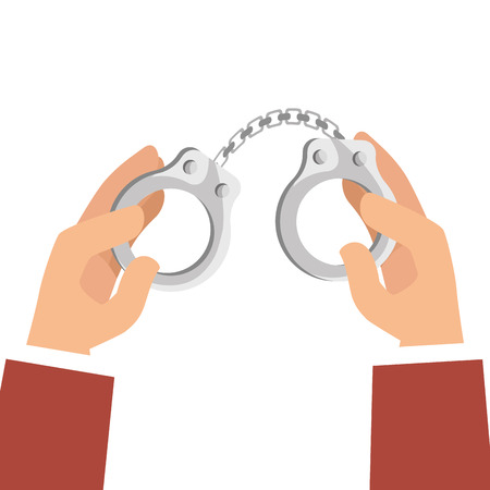 handcuffs justice isolated icon vector illustration design