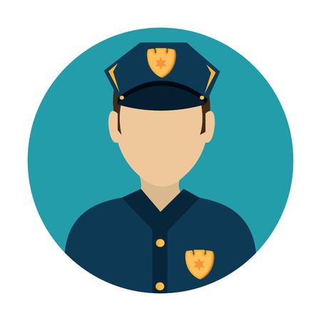 enforce: police avatar character icon vector illustration design Illustration