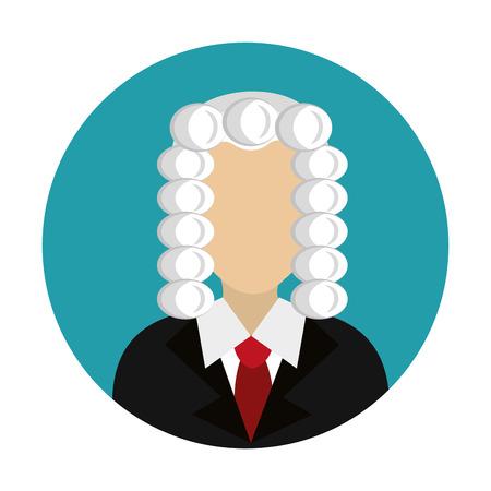 judge avatar character icon vector illustration design