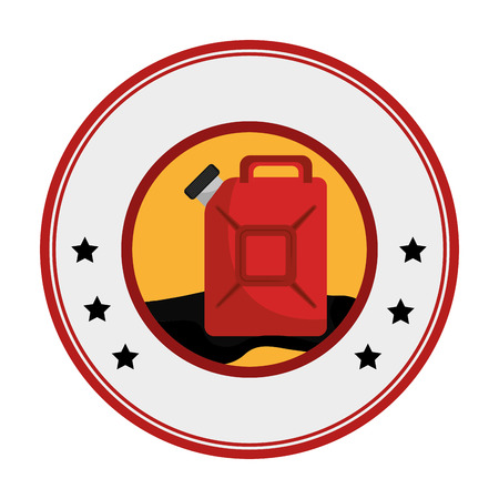gas can: oil tank container icon vector illustration design