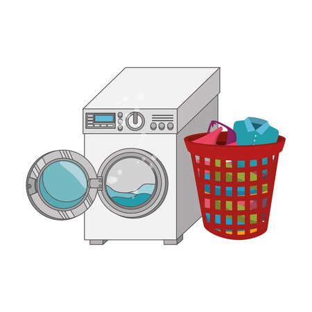 laundry service set icons vector illustration design Illustration