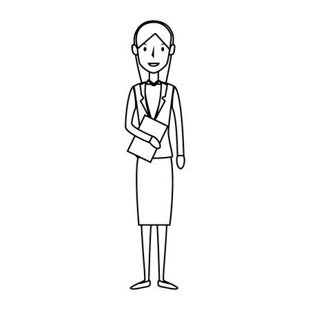 estereotipo: empresaria carácter avatar ilustración vectorial aislado diseño Vectores