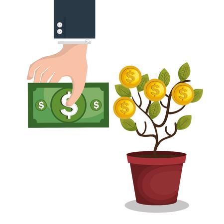 crowd funding concept icon vector illustration design Illustration