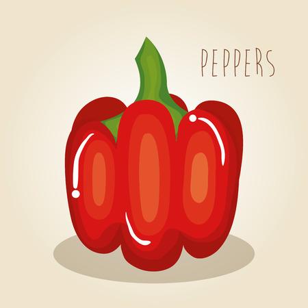 peppers fresh vegetables icon vector illustration design Illustration