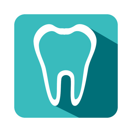 teeth dental care isolated icon vector illustration design Illustration