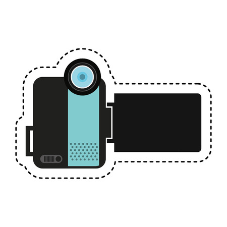 handy cam: handy cam device isolated icon vector illustration design Illustration
