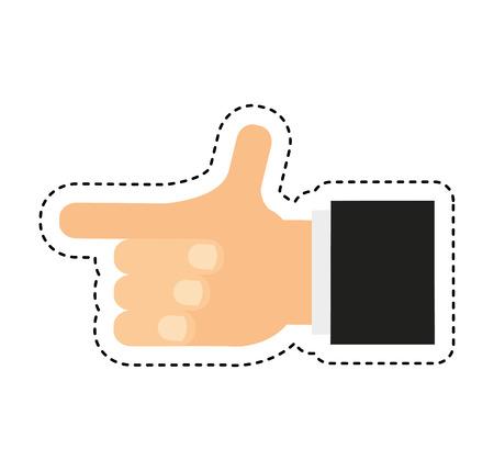 hand human photographer icon vector illustration design