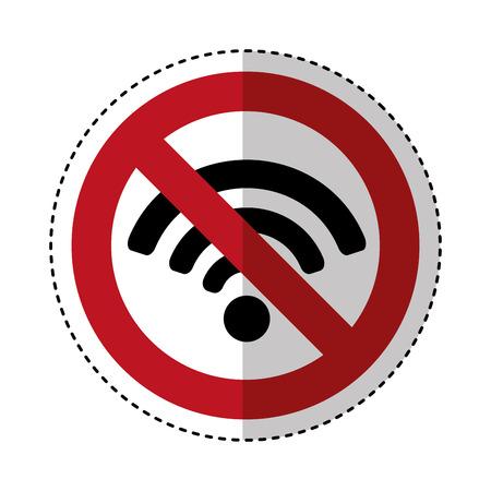 wifi connection service icon vector illustration design