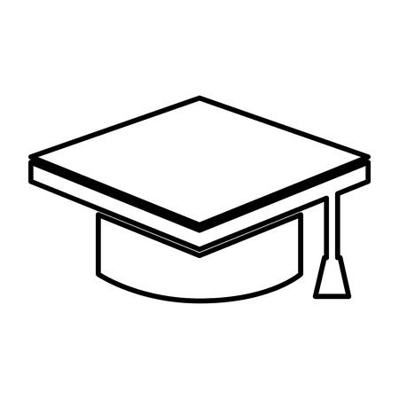 master degree: graduate hat isolated icon vector illustration design