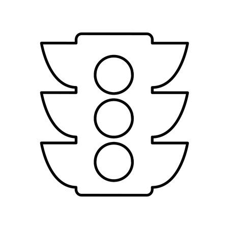 semaphore light traffic icon vector illustration design Illustration